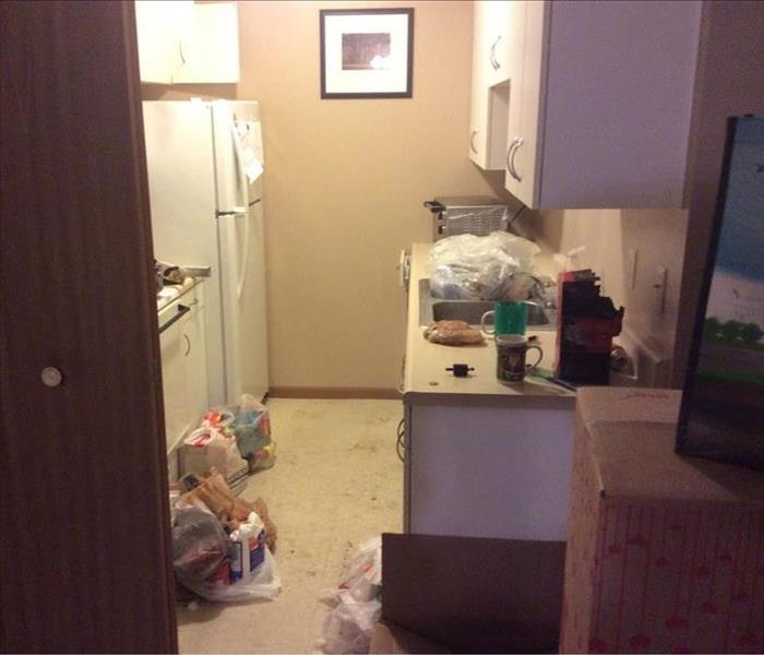 Kitchen Eviction Damage In Peoria  Before